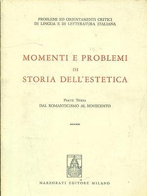 Momenti e problemi di storia dell'estetica parte: aa.vv.