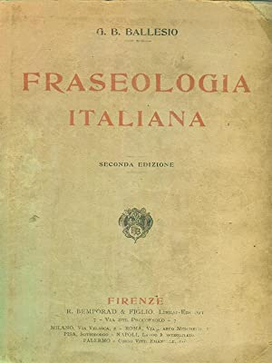 Fraseologia italiana: G B Ballesio