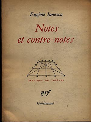 dissertation sur ionesco notes et contre notes