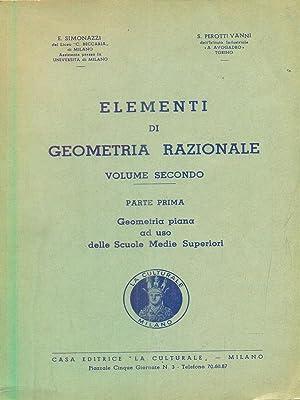 elementi di geometria razionale - vol. 2: Simonazzi - Vanni