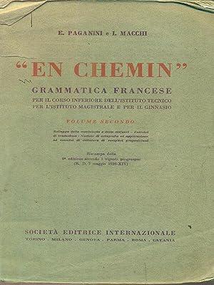 En chemin grammatica francese vol secondo: Paganini - Macchi