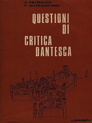 Questioni di critica dantesca: Petrocchi / Giannantonio