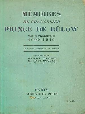 memoires du chancelier Prince de bulow tome: aa.vv.