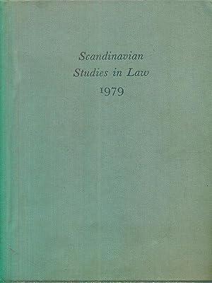 Scandinavian studies in Law 1979 Volume 23: Folke Schmidt