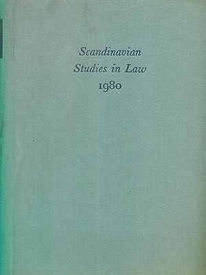 Scandinavian studies in Law 1980 Volume 24: Folke Schmidt