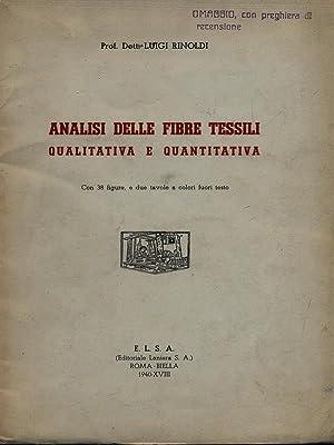 Analisi delle fibre tessili qialitativa e quantitativa: Luigi Rinoldi