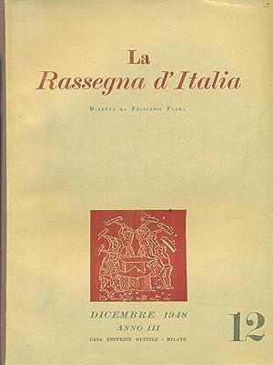 La rassegna d'Italia numero 12 - dicembre: aa.vv.