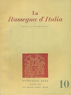 La rassegna d'Italia numero 10 - ottobre: aa.vv.