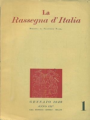 La rassegna d'Italia numero 1 - gennaio: aa.vv.