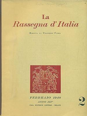 La rassegna d'Italia numero 2 - febbraio: aa.vv.