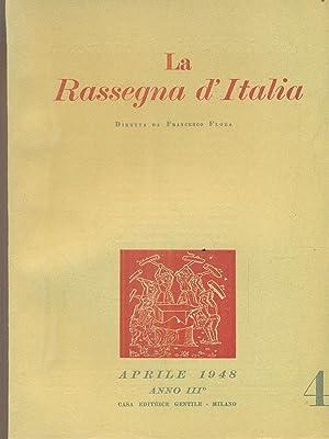 La rassegna d'Italia numero 4 - aprile: aa.vv.