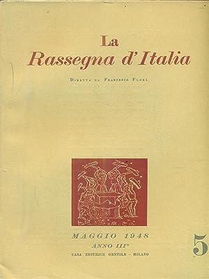 La rassegna d'Italia numero 5 - maggio: aa.vv.