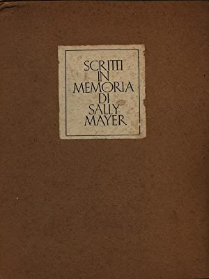 Scritti in memoria di Sally Mayer: aa.vv.