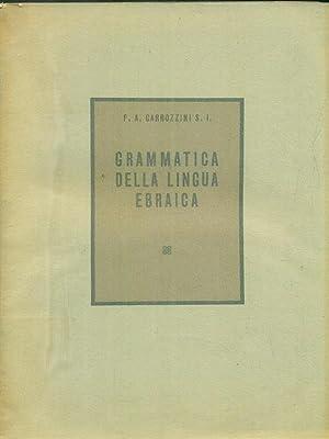 Grammatica della lingua ebraica: Carrozzini, P.A.