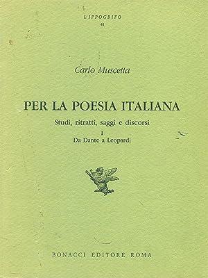 Per la poesia italiana: Muscetta, Carlo