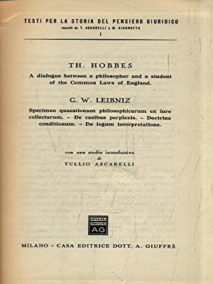 Th. Hobbes - G. W. Leibniz