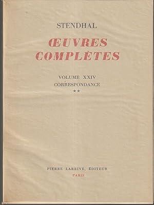 Oeuvres completes (non completa solo n. XVIII-XIX-XXIV-XXV): Stendhal