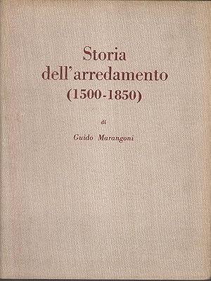 Storia dell'arredamento (1500-1850): Marangoni, Guido