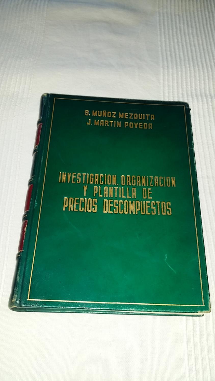 investigacion organización plantilla precios descompuestos de ...