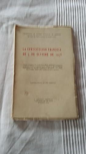 La constitucion Francesa de 5 de octubre de 1958