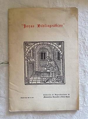 Joyas bibliográficas. Colección de Reproducciones de Manuscritos,