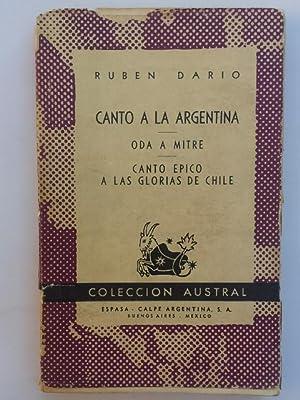 Canto a la Argentina. Oda a Mitre.: DARÍO, Rubén