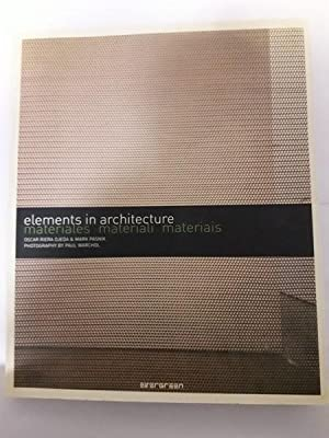 Materias materiali materiais. Elements in architecture