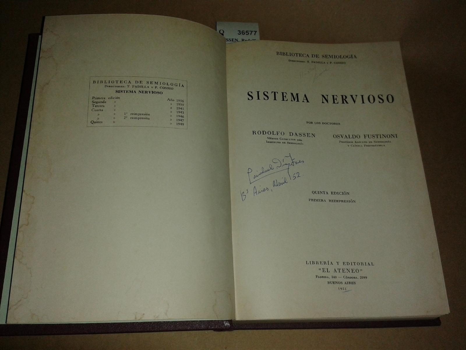 Sistema Nervioso by Dassen Fustinoni - AbeBooks