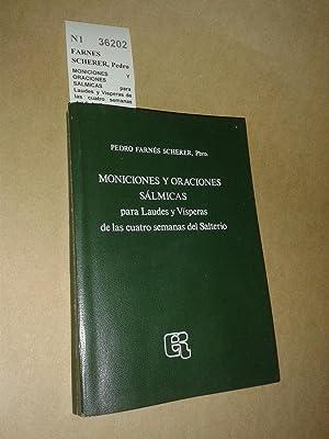 MONICIONES Y ORACIONES SALMICAS para Laudes y: FARNES SCHERER, Pedro
