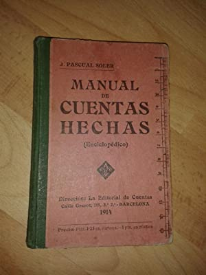 MANUAL DE CUENTAS HECHAS (enciclopedico). CONTADOR PRACTICO.: PASCUAL SOLER, J.