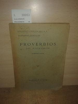PROVERBIOS DE SALOMON COMENTADOS. Biblioteca Biblica del: SALOMON