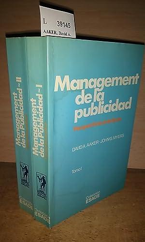 MANAGEMENT DE LA PUBLICIDAD (2 VOLUMENES): AAKER, David A.