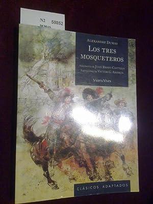 LOS TRES MOSQUETEROS. Adaptacion de JUAN BRAVO CASTILLO. Ilustraciones de VICTOR G. ABRUS. Vicens ...