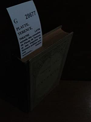 THEATRE LATIN extraits des comedies de Plaute,: PLAUTE, TERENCE, SENEQUE