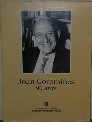 Joan Coromines. 90 anys,: FERRER I COSTA,