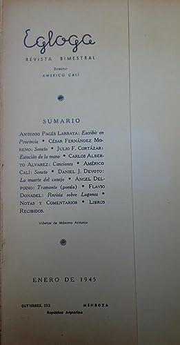 Revista Egloga de Literatura Mendoza, Argentina. Julio Cortazar: Americo Cali