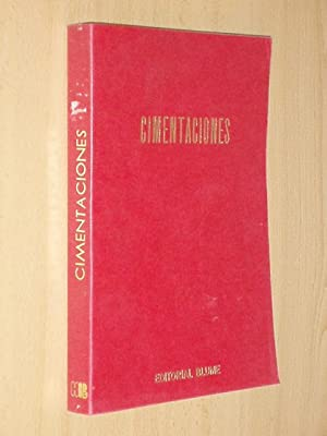 CIMENTACIONES: Schulze - Simmer - Trad. de José María Rodríguez Ortiz