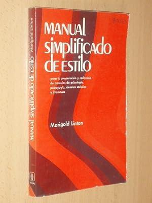 MANUAL SIMPLIFICADO DE ESTILO: Linton, Marigold
