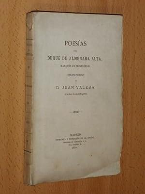 POESÍAS del Duque de Almenara Alta, Marqués de Monesterio con un prólogo de D....