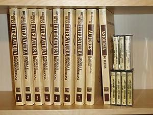 HISTORIA DE LA LITERATURA ESPAÑOLA E HISPANOAMERICANA - 9 Tomos + 7 cintas casstette: VV. AA...