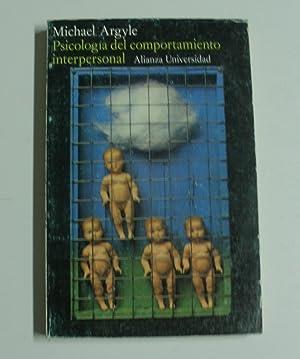 Psicología del comportamiento interpersonal: Argyle, Michael