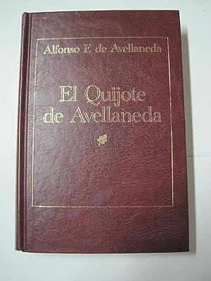 El Quijote de Avellaneda: Alfonso F. de