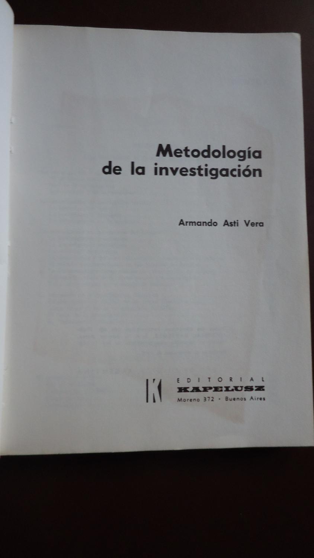 metodologia dela investigacion armando asti vera