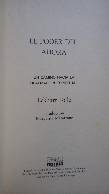 EL PODER AHORA. UN CAMINO HACIA LA REALIZACIÓN ESPIRITUAL: TOLLE, Eckhart