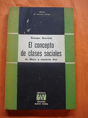 EL CONCEPTO DE CLASES SOCIALES, DE MARX A NUESTROS DÍAS: GURVITCH, Georges