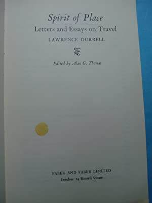 SPIRIT OF PLACE. LETTERS AND ESSAYS ON TRAVEL. (UNCORRECTED PROOF COPY): DURRELL, Lawrance