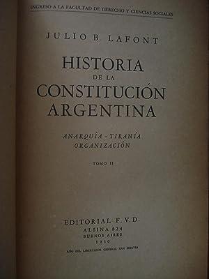 HISTORIA DE LA CONSTITUCIÓN ARGENTINA: LAFONT, Julio B.