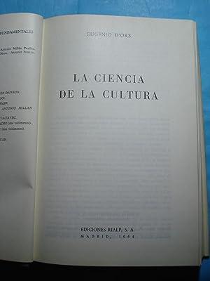 LA CIENCIA DE LA CULTURA: D ORS, Eugenio