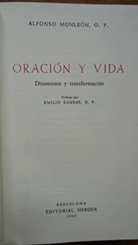 ORACIÓN Y VIDA. DINAMISMO Y TRANSFORMACIÓN: MONLEÓN, Alfonso