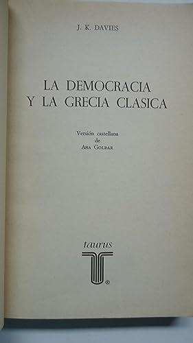 LA DEMOCRACIA Y LA GRECIA CLÁSICA: DAVIES, J. K.